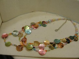 Jabberjewelry.com Signature You & I Shell & Bead Multi Color Necklace