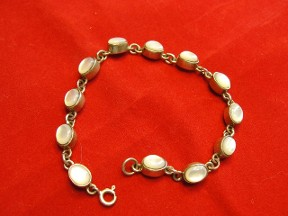 Jabberjewelry.com Silver Mother Of Pearl Bracelet