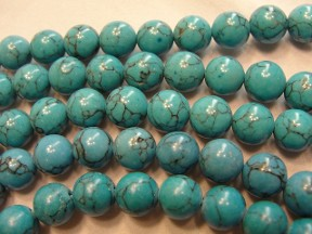 Jabberjewelry.com Vintage Spider Web Turquoise Bead Necklace