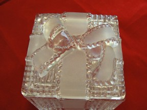 Leaded Crystal Wrapped Gift Trinket Box